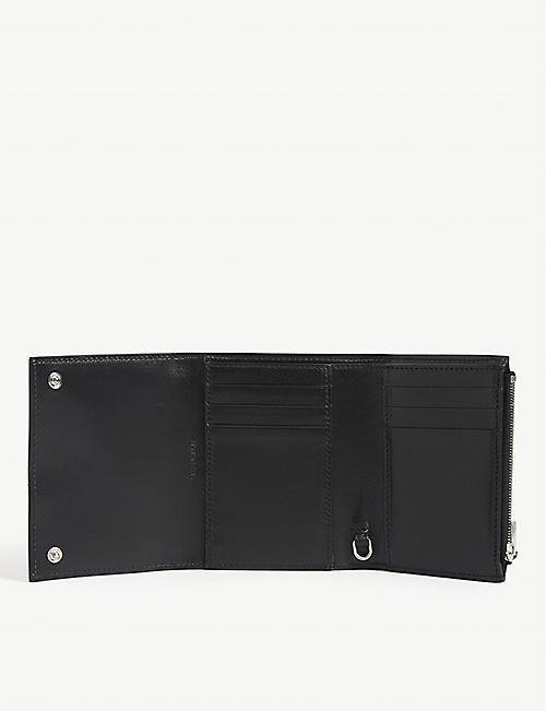 BALENCIAGA Compact logo leather wallet