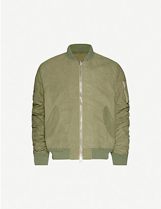 READYMADE: Jesse recycled canvas bomber jacket