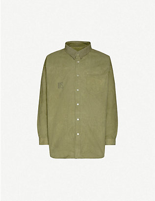 READYMADE: Oversized recycled canvas shirt