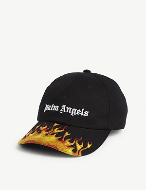 PALM ANGELS Flaming logo baseball cap