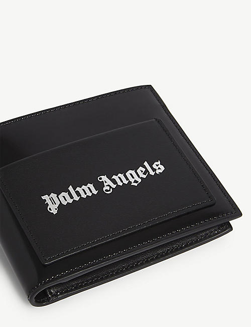 PALM ANGELS Iconic logo leather billfold wallet