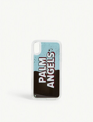 PALM ANGELS Liquid logo silicone iPhone XR case