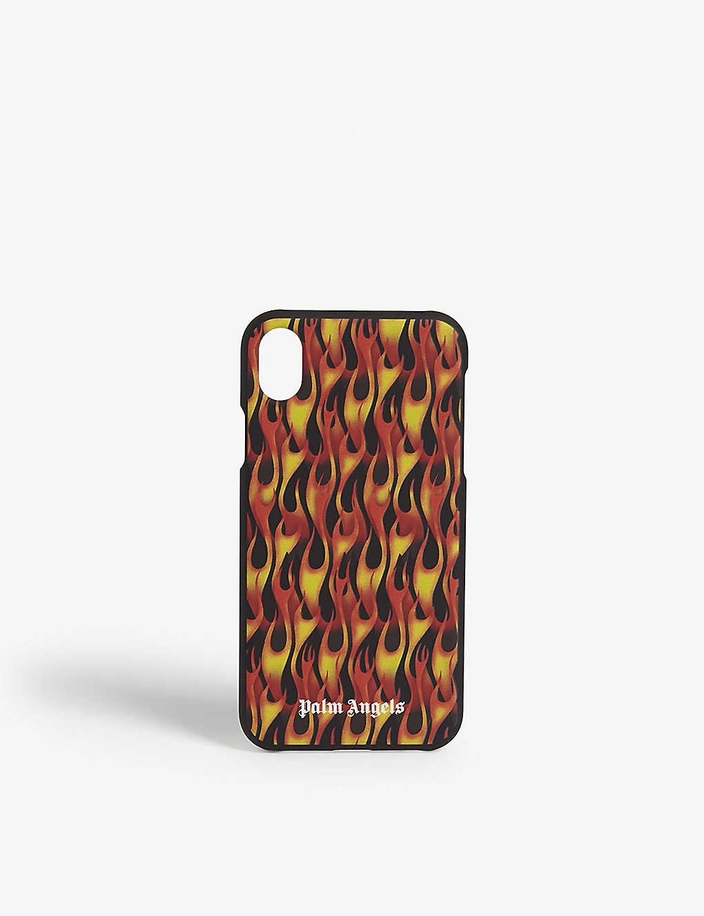 PALM ANGELS: Flame-printed silicone iPhone XR case