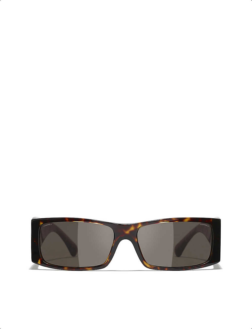 CHANEL: CH5425 square-frame acetate sunglasses