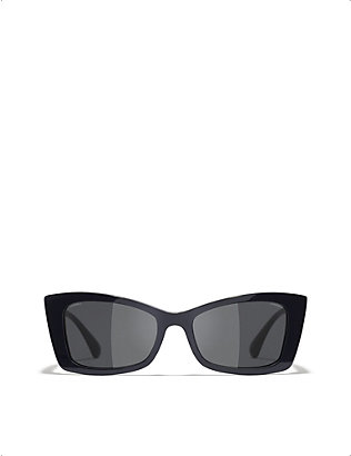 CHANEL: CH5430 acetate rectangle-frame sunglasses