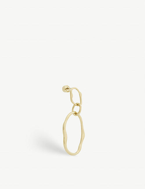 MARIA BLACK: Pond gold-plated sterling silver earring