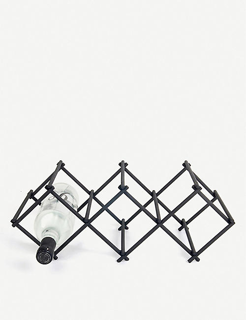 XL BOOM: Diamond powder-coated iron wine rack 30cm x 18cm