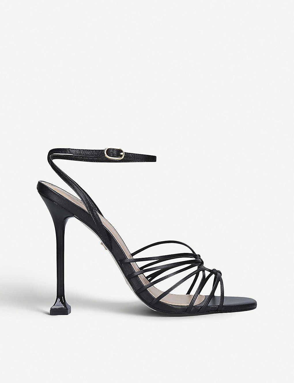 CARVELA: Glowing strappy leather heeled sandals