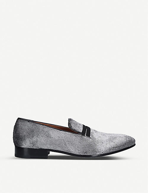 MALONE SOULIERS: Miles calf-hair loafers