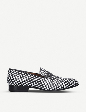 MALONE SOULIERS Miles monochrome leather loafers