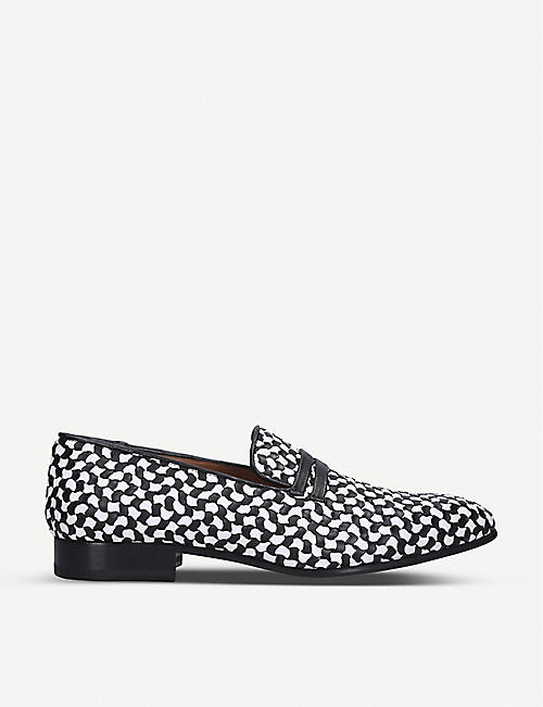 MALONE SOULIERS: Miles monochrome leather loafers