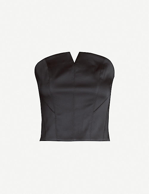 KARL ACCORDING TO CARINE Cut-out satin corset