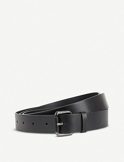 KARL ACCORDING TO CARINE Karl x Carine double-wrap leather belt