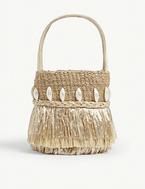 ARANAZ Tenta raffia bucket bag
