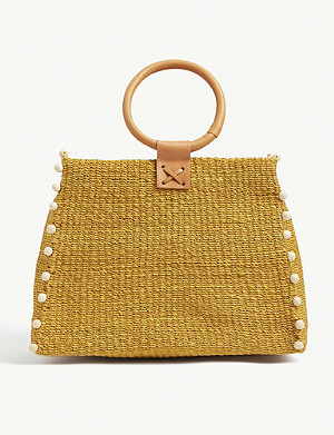 ARANAZ Perry raffia box bag