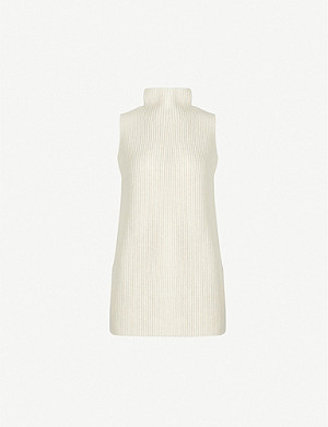 THEORY Ribbed knit wool and cashmere-blend vest