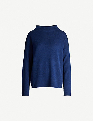THEORY High neck wool and cashmere-blend jumper