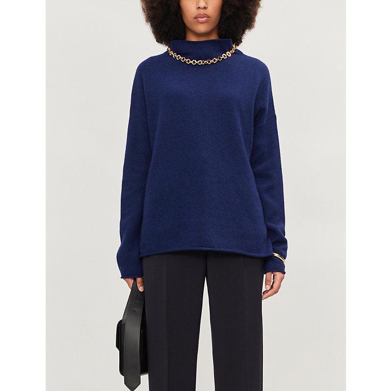 Theory Tops HIGH NECK WOOL AND CASHMERE-BLEND JUMPER