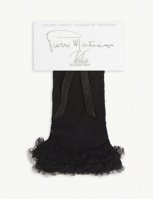PIERRE MANTOUX Ferran lace frill ankle socks