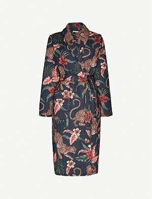 DESMOND AND DEMPSEY Soleia jungle-print cotton robe