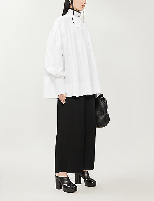 HYUN MI NIELSEN Oversized gathered cotton top