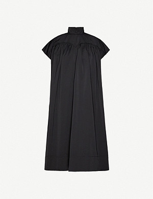 HYUN MI NIELSEN Gathered woven midi dress