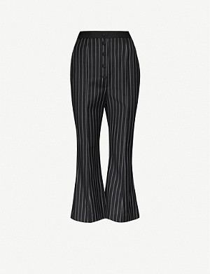 HYUN MI NIELSEN Cropped flared wool trousers