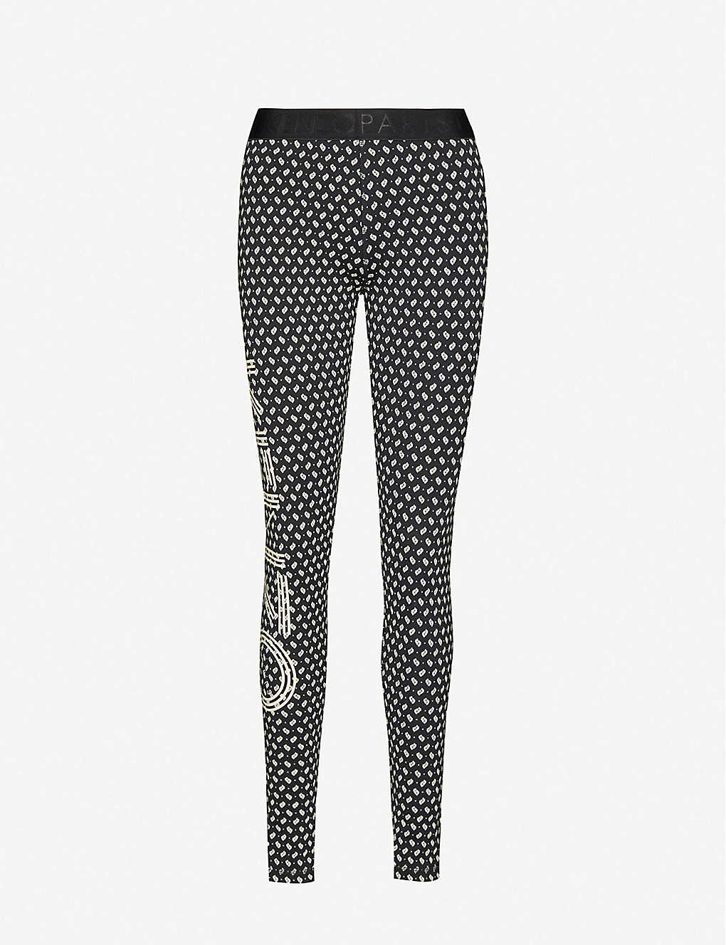 KENZO: High-rise graphic and logo-print cotton-jersey leggings