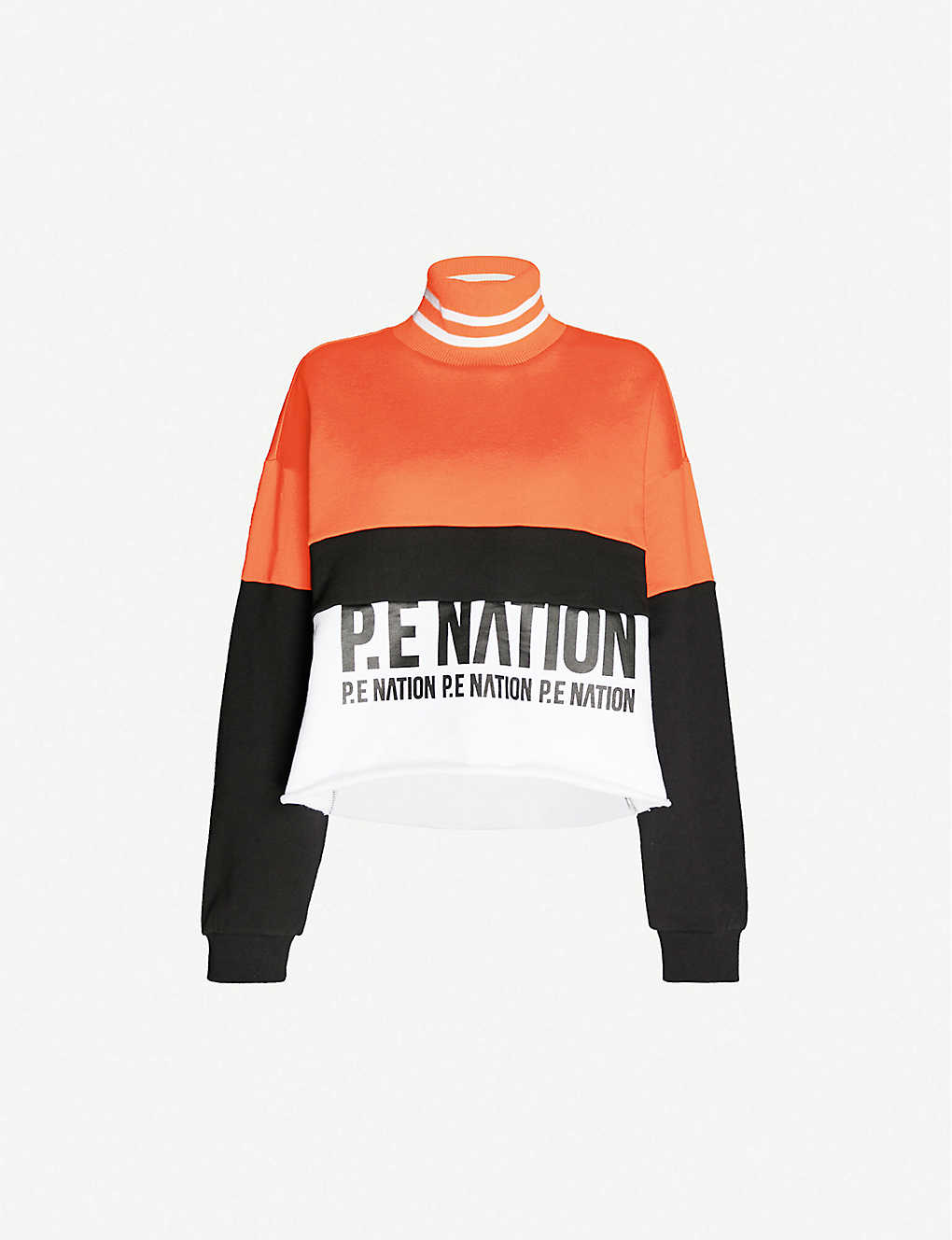 P.E NATION: Real Challenger logo-print cotton-jersey sweatshirt