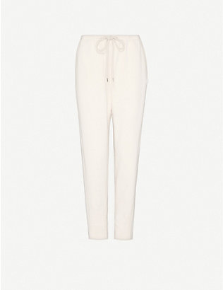 MAX MARA: Baccano tapered high-rise stretch-cotton jogging bottoms