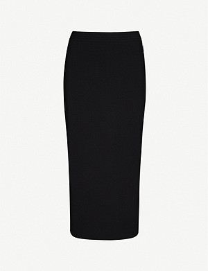 MAX MARA Eiffel high-waisted stretch-cotton midi skirt