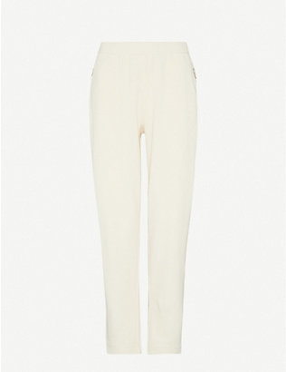 MAX MARA: Tattico tapered mid-rise cotton-blend knitted trousers
