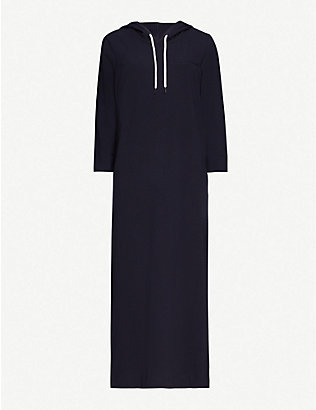 MAX MARA: Mulino hooded stretch-cotton midi dress