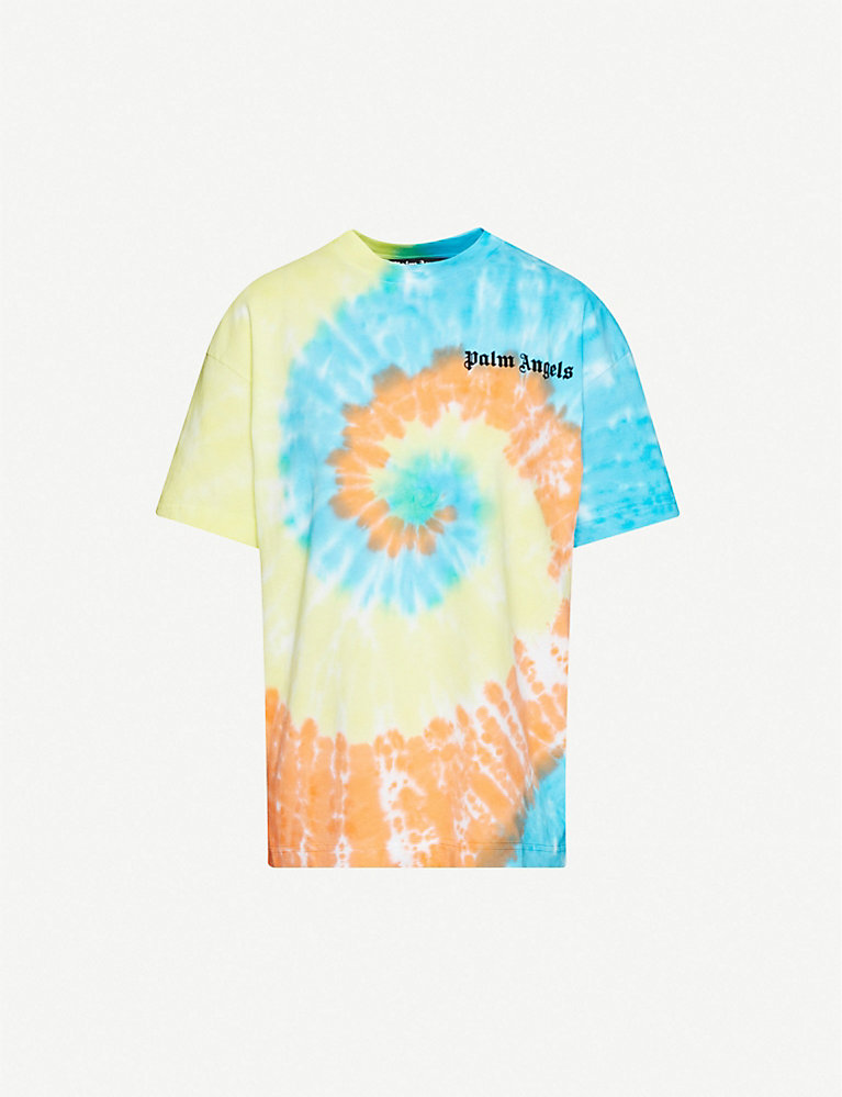 Palm Angels Basic branded tie-dye cotton-jersey T-shirt
