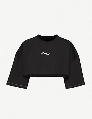 ADER ERROR: Cropped cotton-jersey top