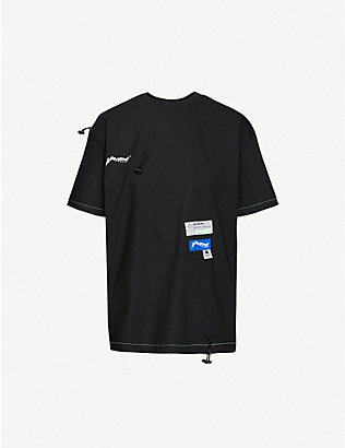 ADER ERROR: Embroidered cotton-jersey T-shirt