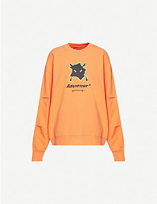 ADER ERROR: Graphic-print relaxed-fit cotton-jersey sweatshirt