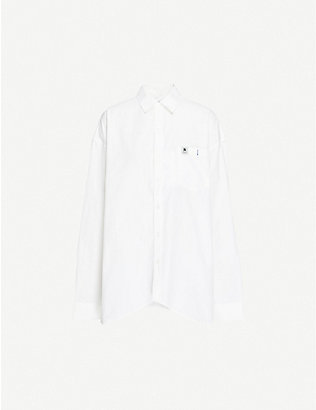 ADER ERROR: Logo-embroidered loose-fit cotton-blend shirt