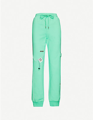 ADER ERROR: Incision cotton-blend jogging bottoms