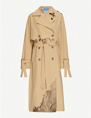 ADER ERROR: Astro Cinder double-breasted woven trench coat