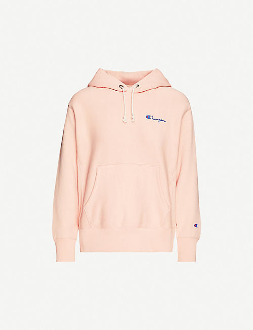 CHAMPION Logo-embroidered cotton-jersey hoody