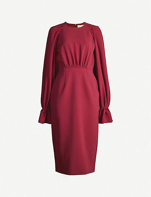 ROKSANDA Vaniria ruched-sleeves crepe midi dress