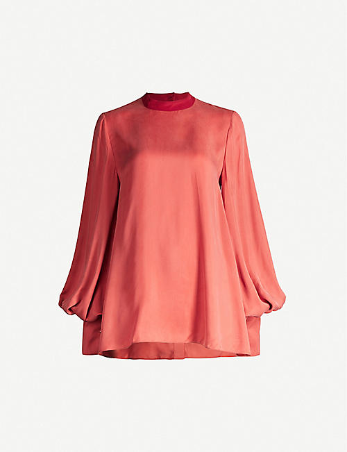 ROKSANDA Cala balloon-sleeve silk top