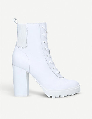 STEVE MADDEN: Latch leather ankle boots