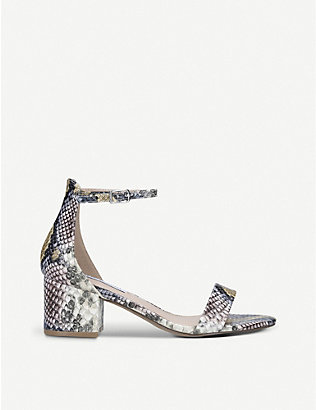 STEVE MADDEN: Irenee leather heeled sandals