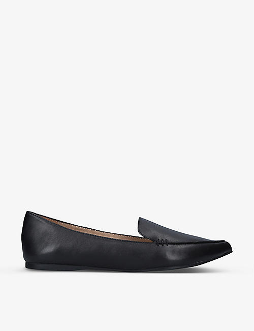 STEVE MADDEN: Feather pointed leather flats