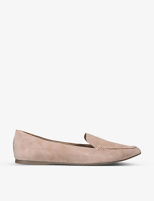 STEVE MADDEN: Feather pointed suede flats