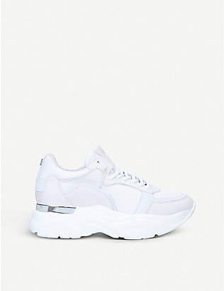 STEVE MADDEN: Flexy chunky-sole leather trainers