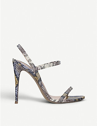 STEVE MADDEN: Gabriella snake-print leather sandals