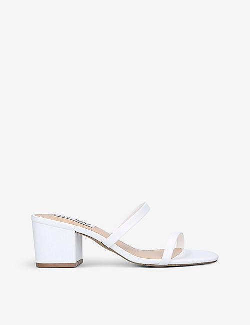 STEVE MADDEN: Open Toe Barely There faux-leather sandals